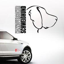Auto Aufkleber HANNOVERSCHER SCHWEIßHUND Profil Hunde Hund Wilsigns SIVIWONDER