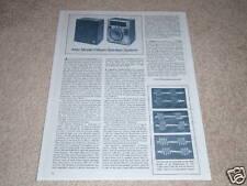 Altec Model 15 Speaker Review, 1979,1 page, Rare!