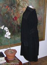 GIANFRANCO FERRE Black Wool COAT Long Outerwear EXCLT VINTAGE Jacket 14 12 10 8