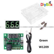 W1209 DC12V Digital Thermostat Temperature Control Switch Sensor+Case Green
