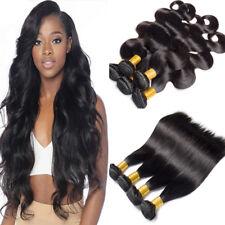 4 Bundles 400g Brazilian Peruvian Virgin Human Hair Weave Straight Body Wave US