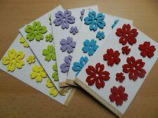 8 Filzsticker, Filzblumen, Blumensticker, Frühlingsblumen