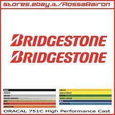 KIT 2 ADESIVI BRIDGESTONE MONO 1 NEW mm.100x12 - DECALS AUFKLEBER PEGATINAS
