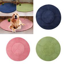 Pet Dog Cat Bed Round Mat Circle Circular Plain Modern Colours Rug Floor Carpet