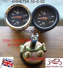 vintage voiture 60mm Diamètre cadran universel 50-50 Ampèremètre contacteur