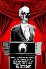 Illuminati Government New World Order Anonymous Occupy Decal Sticker (Podium)