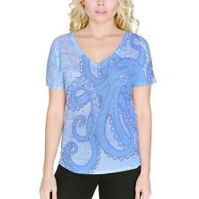 Blue Octopus Ink Women's Slouchy V-Neck T Shirt