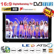 "12"" TFT LED HD TV Portable Television DC 12V Digital Analog Home Car TV Player"