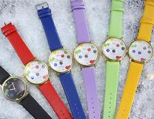 Orologio Donna Al Quarzo Geneva Originale Sport Tempo Libero Moderno Bolle Color