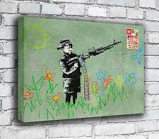 Banksy Canvas - Kid Gun