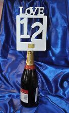 1 to 14 Table Numbers Die Cut Handmade 8 designs White ~~ NO Holders Needed~~