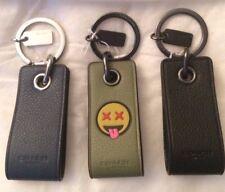 Coach 4 GB USB Drive Leather Key Ring Key Chain w/ Satin Storage Pouch Bag NWT