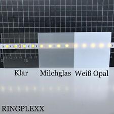 Acrylglas 3mm klar Milchglas Weiß Opal Zuschnitt bis 190x190 MILLIMETER! Plexi :