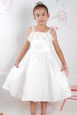 NUEVO Dama De Honor Fiesta CONCURSO BELLEZA Vestido en rosa, blanco