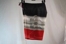 QUIKSILVER HILO SWIM/SURF/BOARD SHORTS/TRUNKS RQQ6/RED/BLACK color size 30