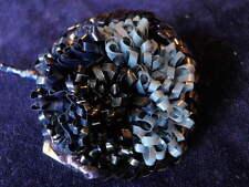 "Vintage Millinery Flower 2"" Blue TwoTone TrimStylish Germany Hat Wedding Hair Sf"