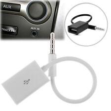 Portable M / F Mini Coche MP3 Converter 3.5mm macho a USB hembra Cable Aux SIM