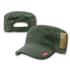 Olive GI Patrol Fatique Army Zipper Cadet Flat Top Adjust BDU Cap Caps Hat Hats