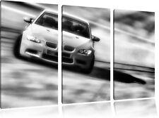 oranger BMW 3-Teiler Leinwandbild Wanddeko Kunstdruck