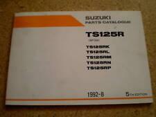 Teilekatalog Suzuki TS 125 R Stand 08/1992