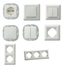Düwi PrimaLuxe Steckdose - Schalter - Taster - Rahmen -Serienschalter - weiß