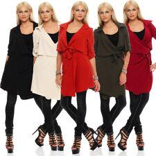 Mississhop Cardigan Mantel Jacke Chiffon Shirt Blazer Bluse 3/4 Ärmlang