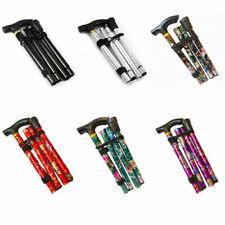 Walking Stick Aluminium Folding Height Adjustable Cane Lightweight Collapsible
