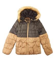 Jessica Simpson Girls Beige/Brown Colorblock Coat Size 4 5/6 6X 7/8 10/12 14/16