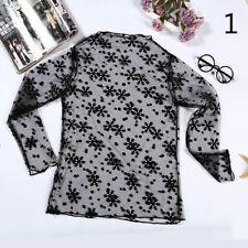 Lady Charm Nylon Mesh Net Shirts Lace Yarn Fabric Primer Long Sleeve Perspective