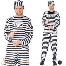 Hommes Costume prisonnier adulte enterrement de vie garçon déguisement