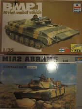BMP1 SOVIET COMBAT VEHICLE,M1A2 ABRAMS SCALA 1:35