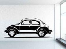 De Colección Clásico VW Beetle Coche Vinilo Pared Arte Calcomanía Adhesivo. cualquier Color Y Tamaño