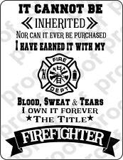 STICKER FIREFIGHTER S ATTITUDE
