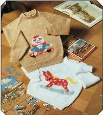 Child sweater- jumper. Knitting patterns in DK. Boy or Girl. Raglan sleeves.
