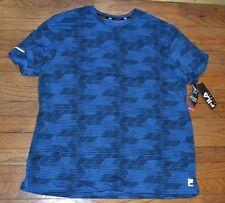 Fila Sport Performance Workout Shirt Cool Factor Wicking Tee w/ Media Zip Pocket