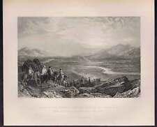 Plain of the Jordan River - Dead Sea- 1847 Engraving
