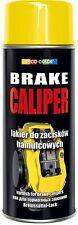 DECO COLOR PACK OF: YELLOW GLOSS BRAKE CALIPER SPRAY PAINT 400ml HEAT MOTO SPORT