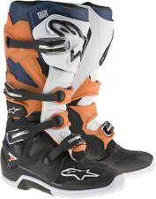 Alpinestars Tech-7 Dirt Bike Motorcycle Boots (See Sizes) Black/Orange/White