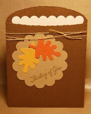 A2 Fall Leaf Pocket Card Kit, makes 8 includes envelopes!  choose the greeting