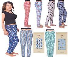 Da Donna Pigiama Bottoms Nightwear cotone stampato Lounge Pants Pantaloni PJ regalo S-XXL