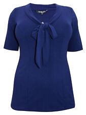 Scarlett & Jo blouse top plus size 18 20 22 24 26 30 32 blueberry pussy bow tie