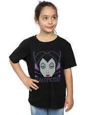 Disney Niñas Maleficent Cropped Head Camiseta