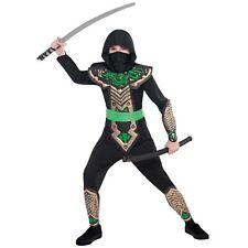 Japanese Dragon Ninja Warrior Childrens Boys Fancy Dress Costume Book Week