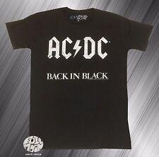 New AC/DC Back in Black Retro Mens Classic Vintage T-Shirt