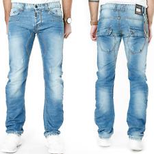 Max & Liu Men's Designer Slim Skinny Fit Jeans Trousers Club Wear - ML6788