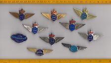 Vintage Junior Pilot Stewardess brooch pin badge wing KLM SAS Pan Am  Airlines