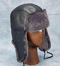 NEW Aviator Hat (Black) - 100% Sheepskin by Northern Hats (SKU: 17K-BLK)