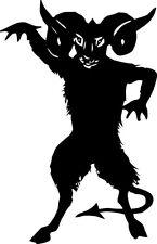 SATANIC GOAT devil goth anti 666 metal vinyl decal bumper sticker laptop