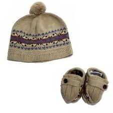 Polo Ralph Lauren Infant Boy's Cotton Fair Isle Knit Hat & Booties Set Khaki