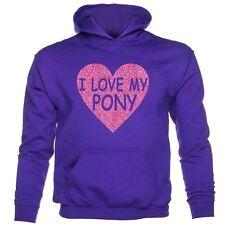 I love My Pony Horse Riding Ponies Girls Birthday Funny Girls Hoodie